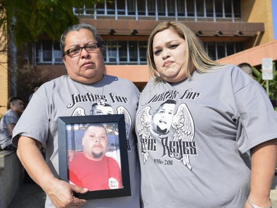 Dozens of family and friends came out to support Eric Reyes, who was gunned down in October 2011. One of the his killers, Ricardo Picasso, was sentenced Wednesday to 139 years in prison for his role in the homicide.