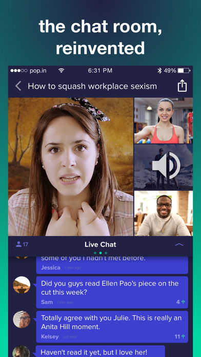 Captivating Smiletime Is Now Pop.in, Emphasizing Chat Rooms.
