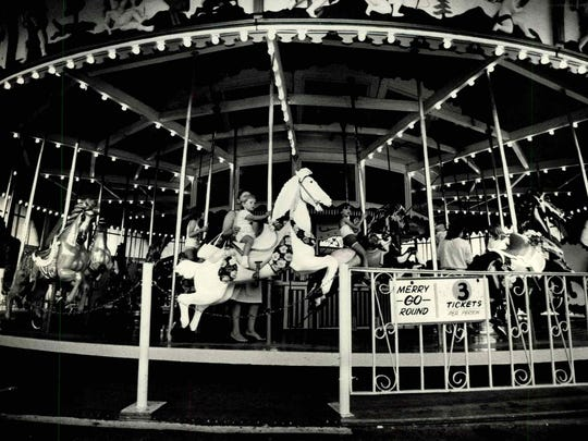The hand-carved carousel that took countless riders round and round was sold intact when the park closed. It now resides in a Syracuse mall.