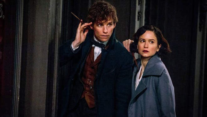"Eddie Redmayne and Katherine Waterston in a scene from ""Fantastic Beasts and Where to Find Them."""
