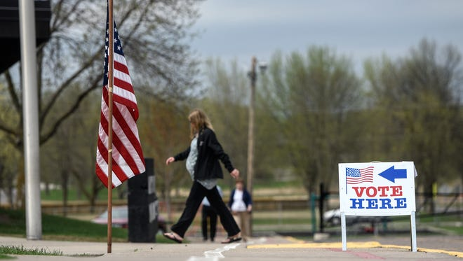 Voters make their way to the voting booths in the Sauk Rapids-Rice School District referendum Tuesday, May 8, at Pleasantview Elementary School.
