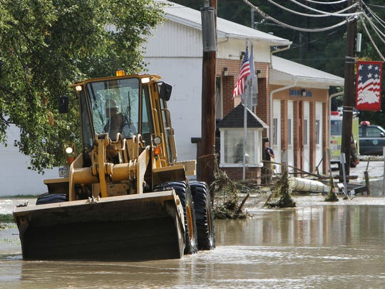 The Wellsburg fire station on Front Street was damaged by flood waters from Tropical Storm Lee more than four years ago.