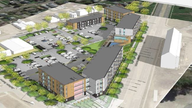 The Neighborhood Development Corp. plans to break ground next month on a $25 million apartment complex called Dunham Square near the intersection of Indianola and Jackson avenues.