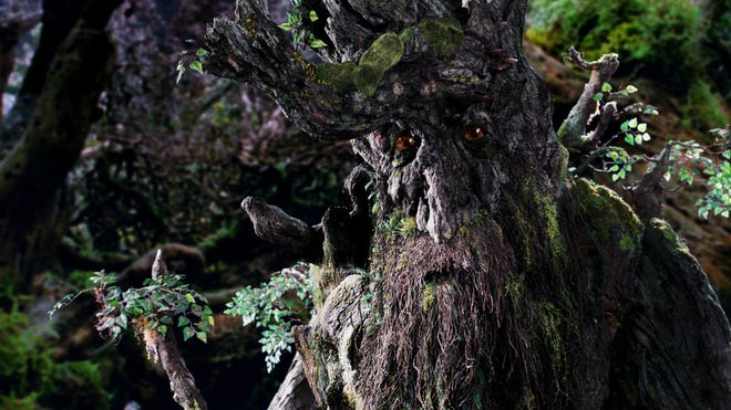 Treebeard, an Ent from J.R.R. Tolkien's 'The Lord of the Rings' trilogy, stars in the film 'The Two Towers.'