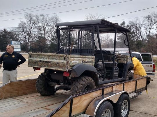 Pictured is the stolen Kawasaki Mule RTV recovered last Friday afternoon by Baxter County Sheriff's Office investigators.
