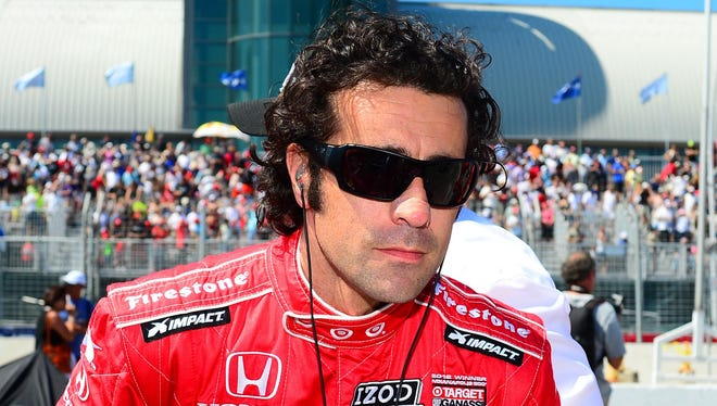 Dario Franchitti continues his recovery from a crash on Oct. 6 that left him with a broken back, broken right ankle and concusssion.