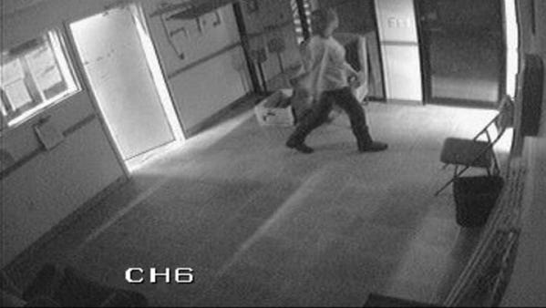This video surveillance video from the Malabar fire station shows some of the last images of volunteer firefighter Brandy Hall before she went missing.