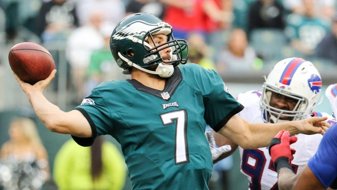 Eagles coach Doug Pederson said Sam Bradford will go into the offseason workouts next month as the starting quarterback.
