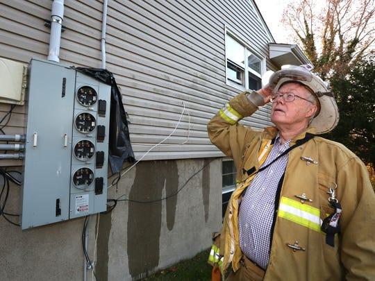 Rockland County Fire Coordinator Gordon Wren Jr. looks