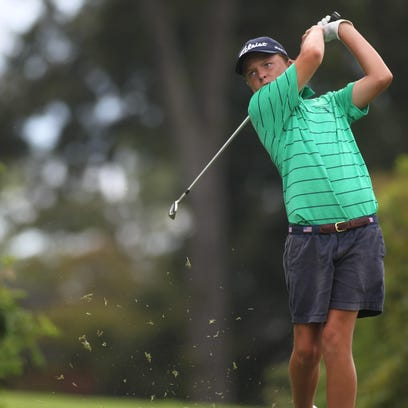 Parker Bell, 13, plays a round at Killearn Country