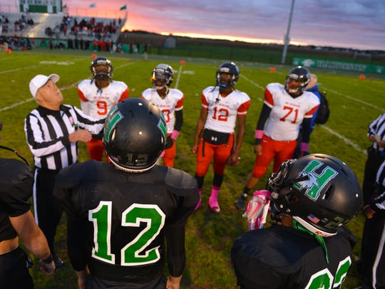 Coin toss, Mt. Healthy at Harrison.