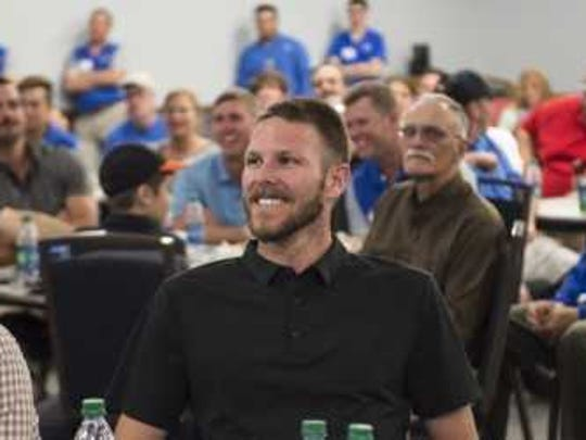 Red Sox All-Star pitcher Chris Sale (shown here at an FGCU team fundraising dinner on Tuesday night) is amped for his second season with Boston.