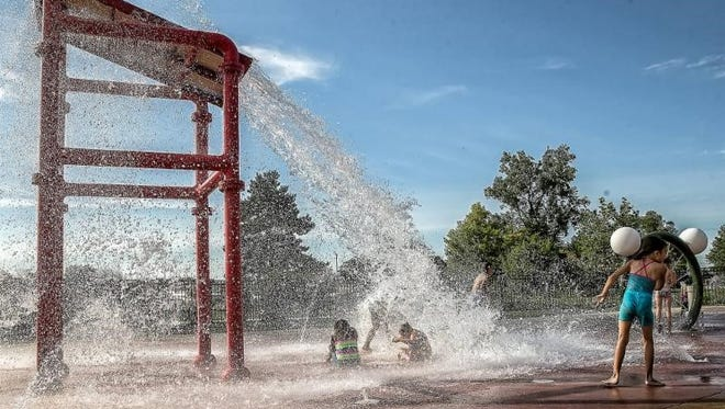 Kids of all ages can cool off at  Westland's H2O Zone sprayground free on weekends in September.