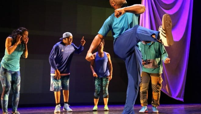 In the multimedia performance /peh-LO-tah/, Marc Bamuthi Joseph combines explosive hip-hop and soccer-inspired choreography with inspirational spoken word and gospel.