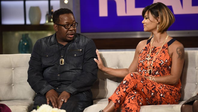 Bobby Brown and wife Alicia Etheredge Brown on 'The Real,' airing Sept. 14.