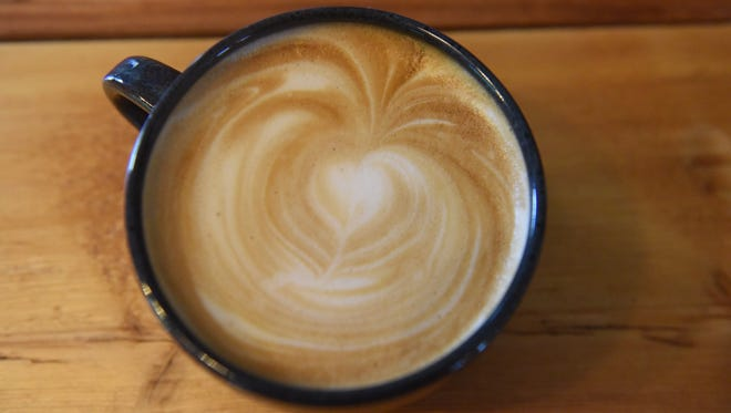 A cup of coffee prepared at North River Roasters in the City of Poughkeepsie.