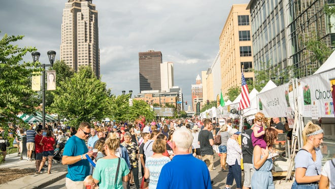 The streets of downtown Des Moines filled with festival goers enjoying Italian food and culture on July 28 for the 2018 Italian American Cultural Festival.