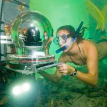 An underwater reef camera