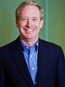 Brad Smith was named president and chief legal officer of Microsoft on Sept. 11, 2015. He attended Appleton West High School.