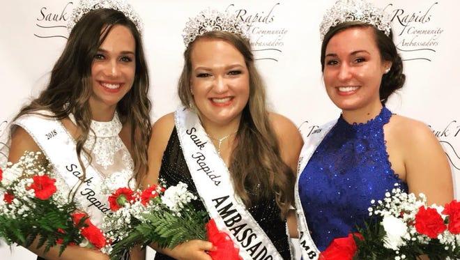 2018-2019 Sauk Rapids Community Ambassadors Anna Walz, Jenna Bukowski and Morgan Weinand.