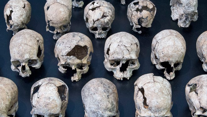 Human skulls.