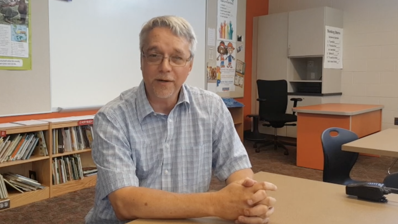 Retired JCPS administrator Tim Hagan will step in as acting principal at Norton Elementary School. He showed off a little of what's in store for students this school year.
