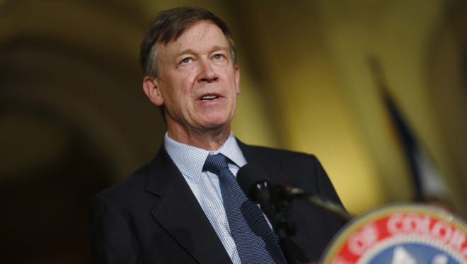 Colorado Gov. John HIckenlooper in a 2015 file photo.