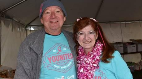 Elaine Morse Hodnett, right, a resident of Arundel, and a volunteer with the American Cancer Society, this month received a Sandra C. Labaree Volunteer Values Awards from the Society recognizing her dedication to its life-saving mission. She is pictured with her husband Steve Hodnett.