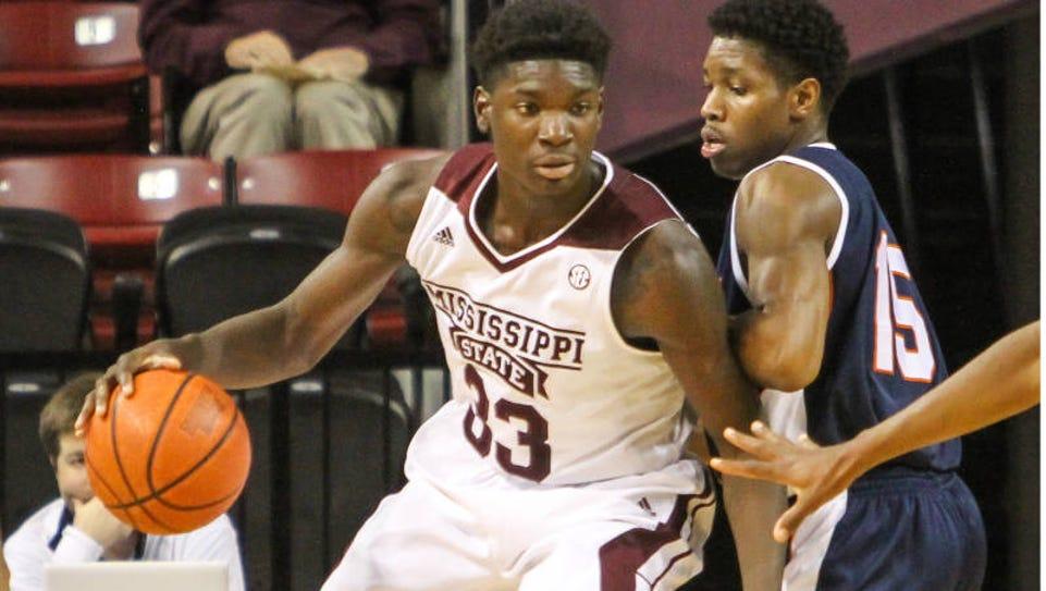 Mississippi State forward Oliver Black is no longer