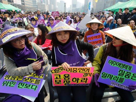 EPA SOUTH KOREA RIGHTS WORLD WOMEN DAY HUM CITIZEN INITIATIVE & RECALL REP