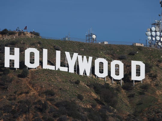 The Hollywood sign after it was fixed to remove the