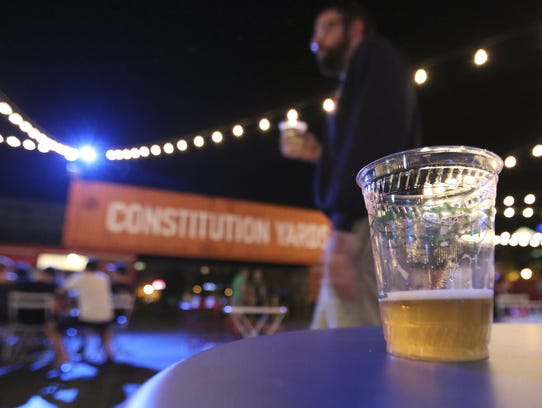 The Constitution Yards Beer Garden at the Wilmington