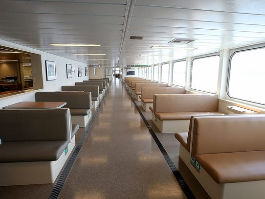 The passenger deck of the new Washington State Ferry