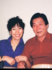 Eunsoon Lee-Corliss with her father, Hee Lee, before