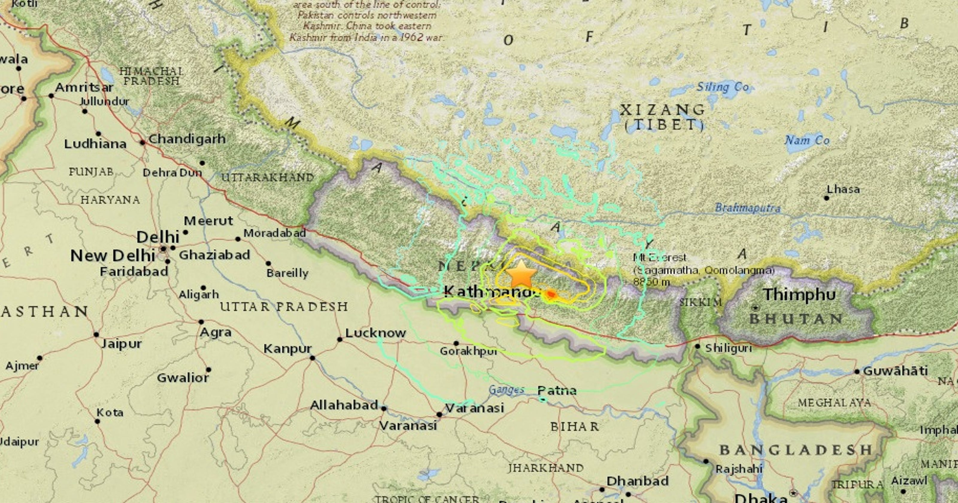 Nepal Earthquake Map.Nepal Quake Occurred At Major Plate Boundary