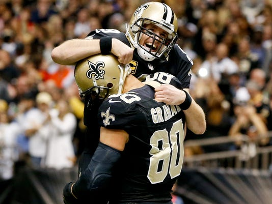 Drew Brees and Jimmy Graham