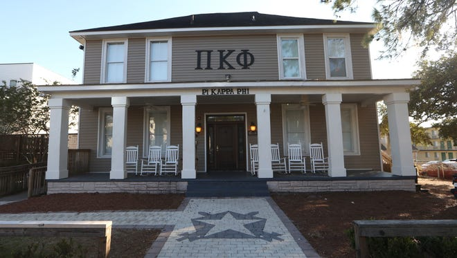 Pi Kappa Phi fraternity house on College Avenue. Pi Kappa Phi fraternity house on College Avenue near FSU campus.