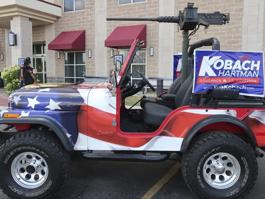 Election 2018 Kansas Governor Jeep With Gun