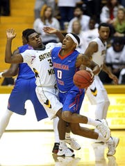Louisiana Tech guard Alex Hamilton (0) ranks 29th nationally