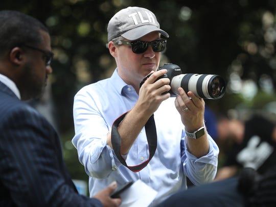 Political consultate Kevin Cate films gubernatorial