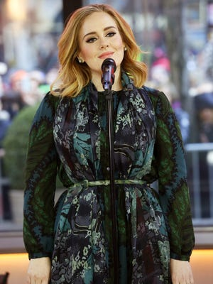 "Adele performs on the ""Today"" show on Nov. 25 to promote her latest release, ""25."" The album sold a record-breaking 3.38 million copies in its first week."