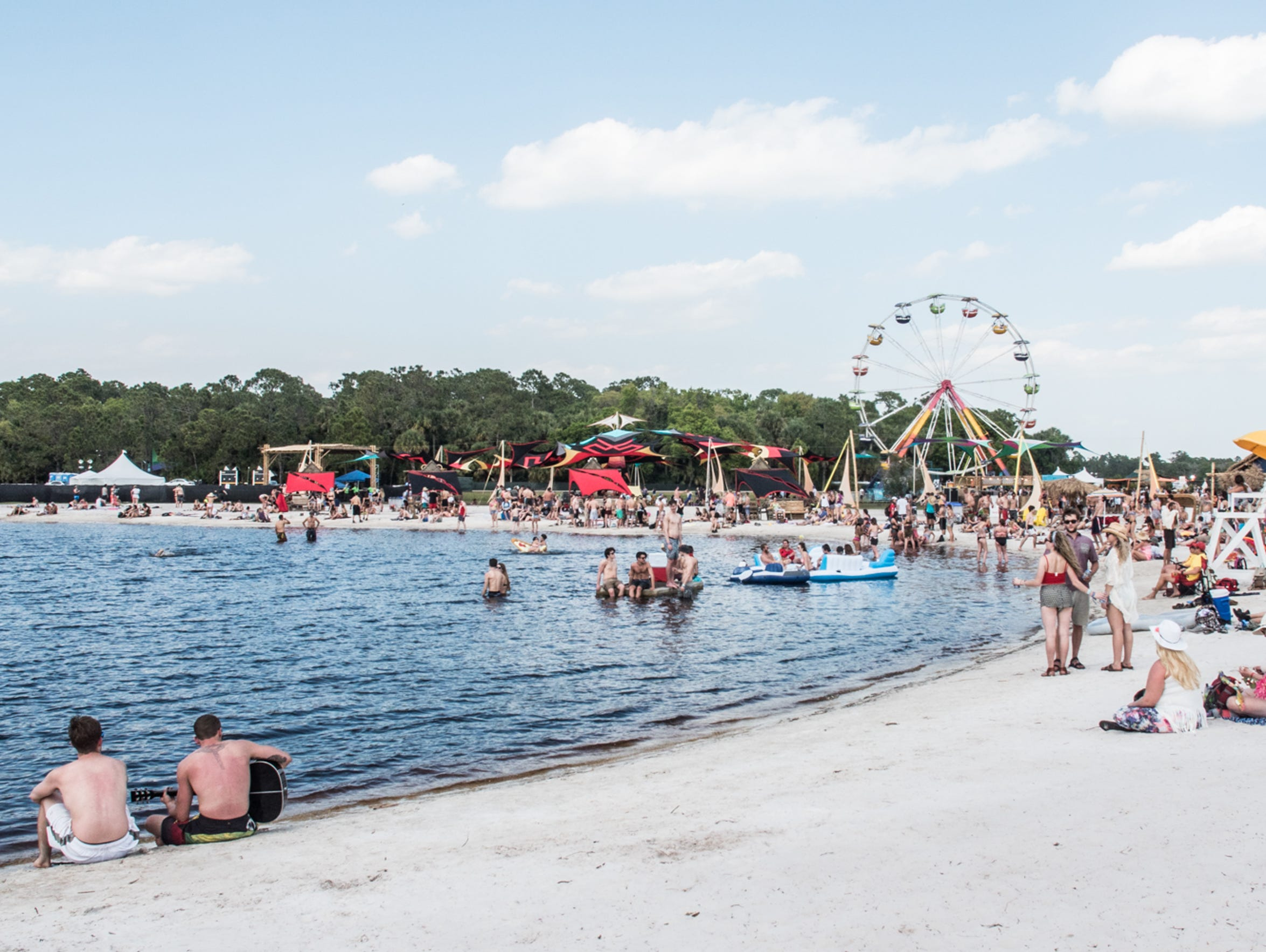 Aquachobee, the festival's beach.
