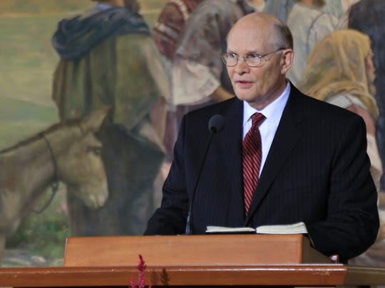 Elder Dale G. Renlund, a new member of the Quorum of the Twelve Apostles of The Church of Jesus Christ of Latter-day Saints, speaks during an Oct. 3 press conference in Salt Lake City.