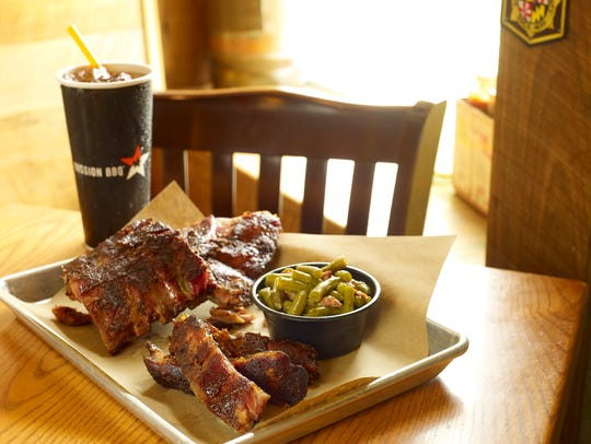 Two kinds of ribs are offered at Mission BBQ.