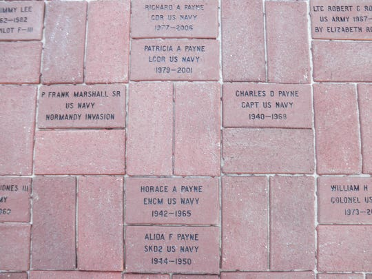 Bricks in Pike Road's Veterans Walk of Honor pay tribute to those who have served America. More bricks can be added by contacting the town.