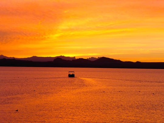 Lake Havasu City is known for brilliant colorful sunsets.
