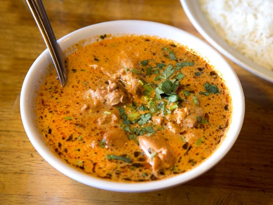 The chicken makhni, or butter chicken, at the Curry