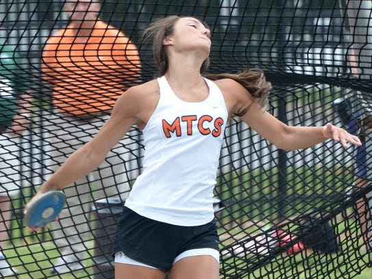 MTCS' Ashlynd Wilkerson finished third in the Class