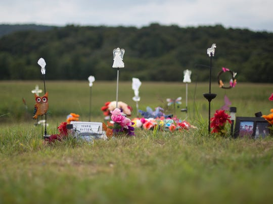 A scene from Scioto Burial Park where some members