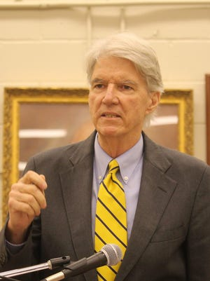 Democratic gubernatorial candidate Phil Noble spoke Thursday night at the Greenville County Democratic Party convention.